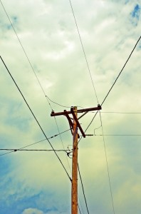Abstract Utility Pole by waynes eye view